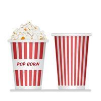 Popcorn bucket icon set