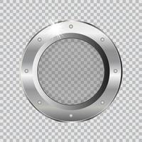 Metal ship porthole  vector