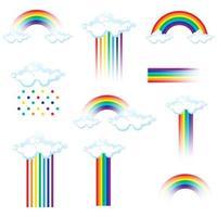 Set of rainbow icons