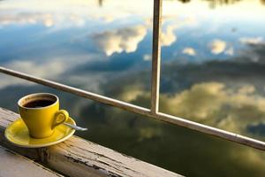 Coffee by the lake photo