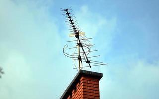 Yagi antenna on a chimney