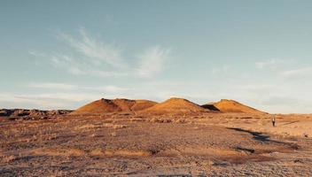 Golden hills in desert