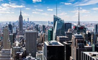 fotografia panorâmica do horizonte da cidade foto