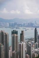 Aerial view of Hong Kong photo