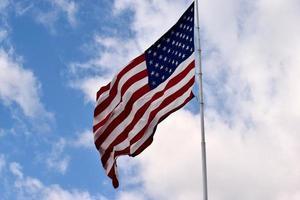 ondeando la bandera americana