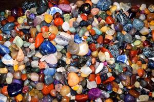 Colorful shiny pebbles photo