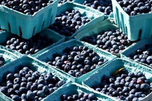 Blueberries on the market