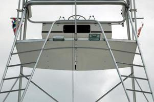Flying bridge of a boat