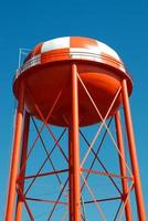 Red water tower