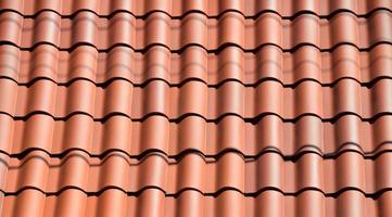 Clay tiles on the roof photo