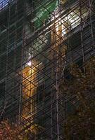 Building construction sparks photo