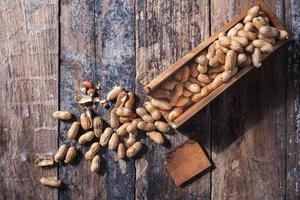 Peanuts in a dish