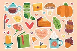 hola otoño conjunto de elementos de otoño