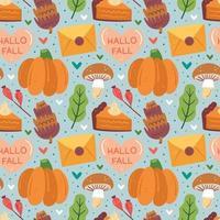 elementos de otoño de patrones sin fisuras vector