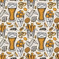 Oktoberfest seamless pattern, texture vector
