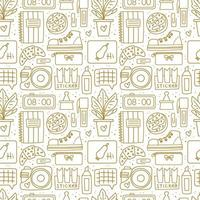 Office stationery seamless pattern vector