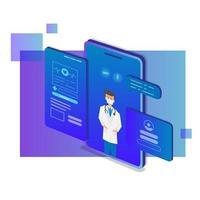 Isometric mobile medical consultant and support design