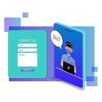 Isometric Customer Service Concept vector