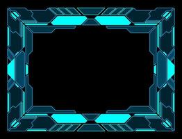 interface de tecnologia abstrata hud frame