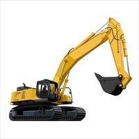 camión de construcción bulldozer vector