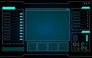 interfaz de tecnología azul hud