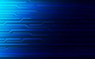 Fondo de tecnología abstracta azul brillante