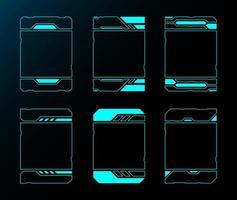 tecnología futura interfaz hud conjunto de marcos verticales