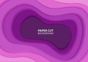 diseño de capa de corte de papel púrpura degradado