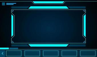 Rectangle frame technology hud vector
