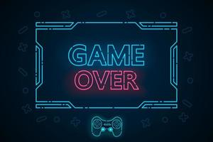 Game over technology interface hud vector