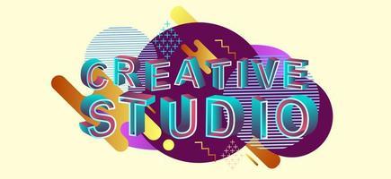 Creative studio modern concept web header vector