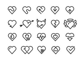 Heart line icons