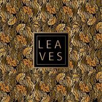 patrón de naturaleza de hojas doradas vector