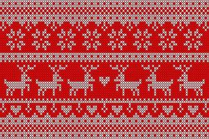 White and red knit pattern with deer