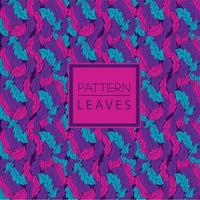 Cyan, pink and purple leaf pattern vector