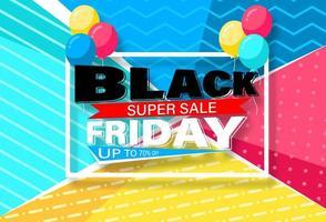 diseño de banner con estampado de viernes negro brillante