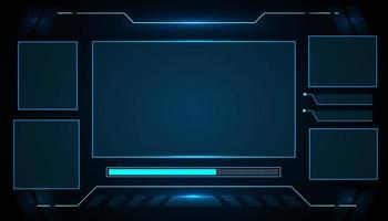 Blank futuristic interface hud technology design vector
