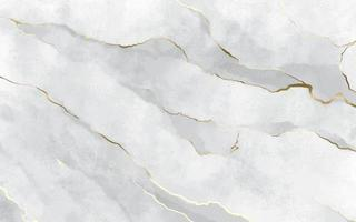White Stone Marble Texture with Golden Strokes
