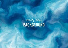 Misty Blue Watercolor Texture vector