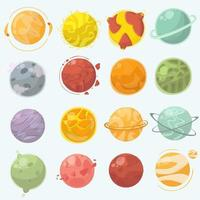 Planets cartoon set