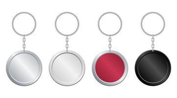 Circle keychain set