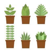 Plant in pot set vector