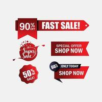 Sale banner set in red