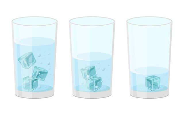 Ice Cubes Set 1314070 Vector Art, Glass Ice Cubes Vector