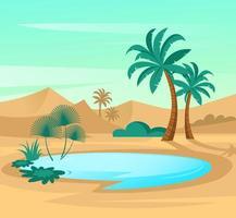 oásis no deserto vetor