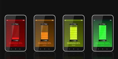 Digital device charging set vector