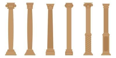 Set of ancient columns vector