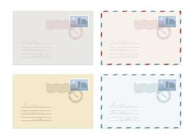 Mail envelope set vector