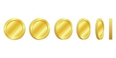 Golden coins set vector