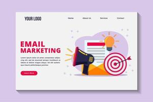 Email marketing concept landing page template